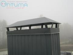 Отделка вентканалов крыши