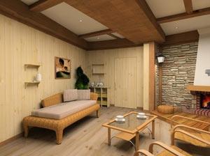 Дизайн комнаты отдыха бани 116
