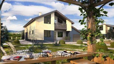 Строительство дома с высоким цоколем в Порошкино